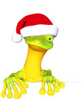 Gecko the Santa Claus Royalty Free Stock Photography
