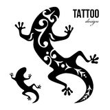 Gecko tattoo Royalty Free Stock Photography