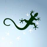 Gecko to crawl. On window-pane Royalty Free Stock Image