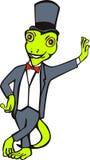 Gecko in tuxedo suit standing Stock Images