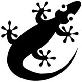 Gecko vector eps illustration by crafteroks stock illustration