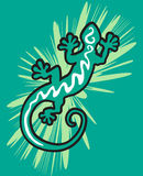 Gecko verde ilustração royalty free