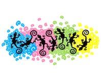 Geckos de flutuação Imagens de Stock Royalty Free