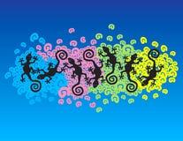 Geckos de flutuação Fotos de Stock Royalty Free