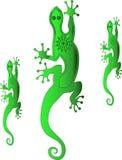 Geckos dos desenhos animados Foto de Stock Royalty Free