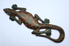 Geckos en bois photographie stock