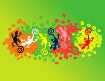 Geckos flotantes Imagen de archivo