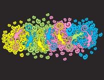 Geckos y diseño de los espirales Imágenes de archivo libres de regalías
