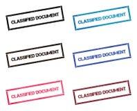 Geclassificeerd Document rechthoekige zegelinzameling stock illustratie