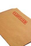 Geclassificeerde envelop B royalty-vrije stock foto's
