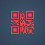 Gecodeerde lorem ipsumtekst in rode aftastencode stock illustratie