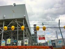 Gecombineerde de Cyclusinstallatie van het Kirikkale Aardgas, Yahsihan De elektrische centrale is een 950MW-installatie die conce royalty-vrije stock foto