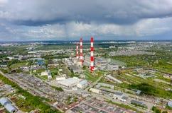 Gecombineerde hitte en machtsfabriek Tyumen Rusland royalty-vrije stock fotografie