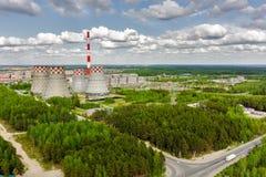 Gecombineerde hitte en machtsfabriek Tyumen Rusland Stock Foto
