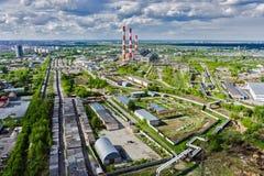 Gecombineerde hitte en machtsfabriek Tyumen Rusland Stock Foto's