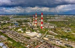 Gecombineerde hitte en machtsfabriek Tyumen Rusland Stock Afbeeldingen