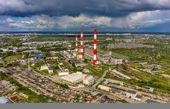 Gecombineerde hitte en machtsfabriek Tyumen Rusland Stock Fotografie
