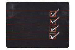 Gecontroleerd bord royalty-vrije stock fotografie