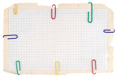 Gecontroleerd notitieboekjedocument stock fotografie