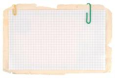 Gecontroleerd notitieboekjedocument stock afbeeldingen