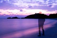 Gedächtnis auf dem Strand Lizenzfreie Stockfotografie