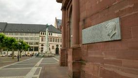 Gedächtnis von Kennedy in Frankfurt lizenzfreies stockfoto