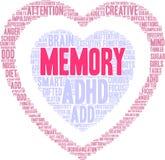 Gedächtnis-Wort-Wolke Stockfotografie