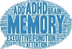 Gedächtnis-Wort-Wolke Lizenzfreie Stockfotos