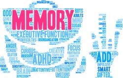 Gedächtnis-Wort-Wolke Stockbilder