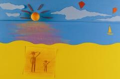 Gedächtnisse von mir und von meinem Vater: Fliegen-Drachen Lizenzfreies Stockbild