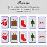 Gedächtnisspiel mit den Karten zu schneiden! Lizenzfreie Stockfotos