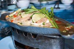Gedämpfte Fische, gedämpfte Fische der chinesischen Art Lizenzfreie Stockbilder