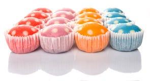 Gedämpfte Reis-Polka Dot Muffin I Lizenzfreies Stockfoto