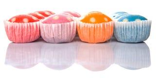 Gedämpfte Reis-Polka Dot Muffin III Lizenzfreie Stockfotografie