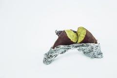 Gedämpfte Süßkartoffel oder gekochte Jamswurzeln Lizenzfreies Stockfoto