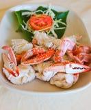 Gedämpfte thailändische Nahrung der Krabbe Lizenzfreies Stockbild