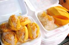 Gedämpfter klebriger Reis mit Mongo Lizenzfreies Stockfoto