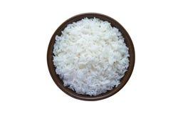 Gedämpfter Reis lokalisiert auf weißem Hintergrund Über Weiß Stockbild