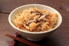 Gedämpfter Reis mit Pilz lizenzfreie stockfotografie