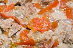 Gedämpftes Fleisch mit Gemüse Stockfotografie