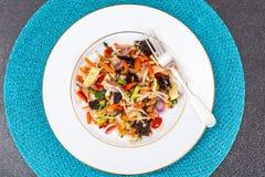 Gedämpftes Gemüse mit Pilze mun, Sojabohnensprösslingen und Bambus Lizenzfreie Stockfotografie