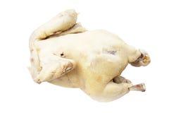 Gedämpftes Huhn lokalisiert Lizenzfreie Stockfotos