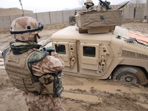 Gedaalde Humvee Royalty-vrije Stock Foto
