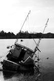 Gedaalde Vissersboot Royalty-vrije Stock Foto's