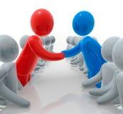 Gedaane overeenkomst royalty-vrije illustratie