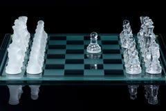 Gedaane schaak eerste beweging Stock Afbeelding