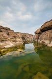 Gedachte de rivier van Kong sampanbok Royalty-vrije Stock Fotografie