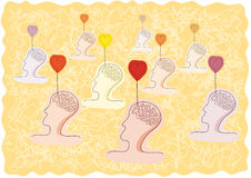 Gedachten van liefde stock illustratie