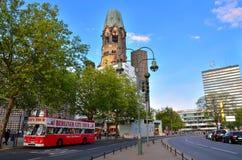 Gedachtniskirche em Kurfurstendamm em Berlim, Alemanha Imagem de Stock Royalty Free