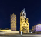 Gedaechtniskirche at Kudamm in Berlin. By night Royalty Free Stock Photo